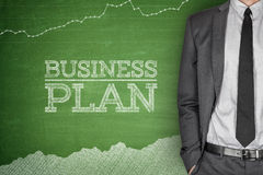 Business strategy concept on blackboard Royalty Free Stock Image