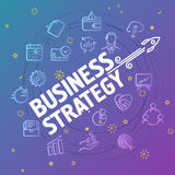 Business strategy concept. Different thin line icons. Included Stock Images
