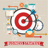 Business strategy concept. Flat design stylish. Isolated on color background. Stock Photography