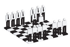 Business strategy concept. Business people on chess board Royalty Free Stock Photography