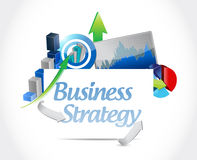 Business strategy concept sign illustration design Stock Images