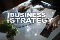 Business strategy concept on the virtual screen. Business strategy concept on the virtual screen Stock Photography