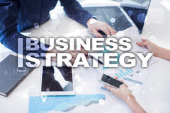 Business strategy concept on the virtual screen. Business strategy concept on the virtual screen Stock Photos