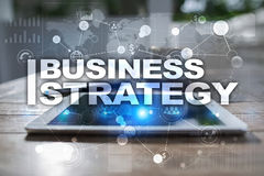 Business strategy concept on the virtual screen. Business strategy concept on the virtual screen Stock Image