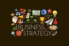 Business Strategy concept for web design template Royalty Free Stock Photo