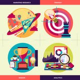 Business strategy concepts in flat design Royalty Free Stock Photo