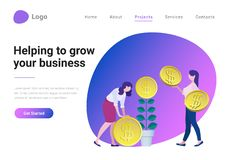 Business Strategy Consulting Investment Flat vecto. Successful Business Strategy Consulting Investment Flat style vector illustration landing page banner vector illustration