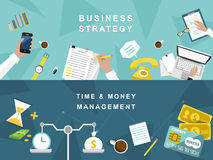 Business strategy and creative process in flat design Stock Photography