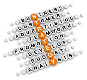 Business strategy crossword Royalty Free Stock Photos