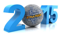 2015 business strategy. 3d render Stock Photography