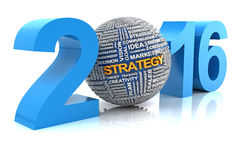 Business strategy in 2016, 3d render Royalty Free Stock Images