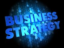 Business Strategy on Dark Digital Background. Stock Photos