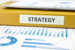 Business strategy with data analysis and graphs Royalty Free Stock Images