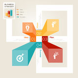 Business Strategy Design Layout. 4 Steps modern style graph layout with Business Strategy concept Stock Photography