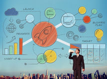 Business Strategy Design Plan Drawing Concept stock illustration