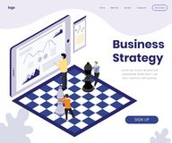 Business Strategy Development Isometric Artwork Concept royalty free illustration