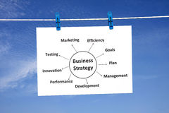 Business Strategy Diagram Stock Photo