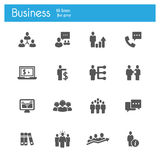 Business strategy flat gray icons Stock Photo
