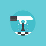 Business strategy flat icon illustration Stock Images