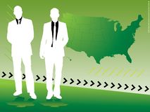 Business strategy green Stock Image