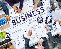 Business Strategy Growth Corporation Concept. Business People Discuss Strategy Growth Corporation Stock Photo