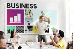 Business Strategy Growth Corporation Concept. Business People Discuss Strategy Growth Corporation Royalty Free Stock Images