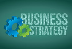 Business Strategy handwritten with white chalk. On a chalkboard Stock Image