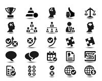 Business strategy icons Stock Photo