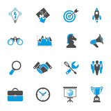 Business Strategy Icon Set Royalty Free Stock Images