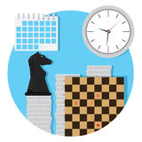 Business strategy icon. Business success economic, chessboard and decision, vector illustration Royalty Free Stock Photos