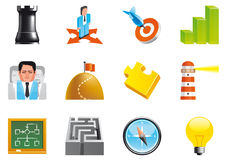 Business strategy icons Royalty Free Stock Photos