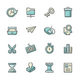 Business and Strategy Icons Royalty Free Stock Photography