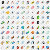 100 business strategy icons set, isometric style. 100 business strategy icons set in isometric 3d style for any design vector illustration Royalty Free Stock Images