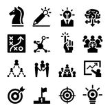 Business strategy icons set Stock Photography