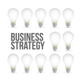 Business strategy idea light bulb pattern concept Royalty Free Stock Photos