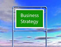 Business strategy illustration with billboard Royalty Free Stock Photo