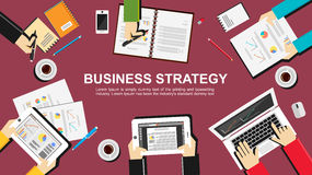 Business strategy illustration. Flat design illustration concepts for business, finance, management, brainstorming, meeting, teamwork, planning Royalty Free Stock Photography