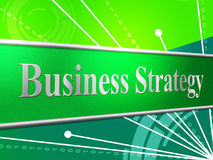 Business Strategy Indicates Planning Solutions And Innovation Stock Image