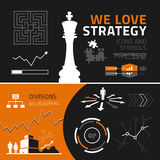Business strategy infographic elements, icons and symbols. Business strategy  infographics elements for reports and presentations Royalty Free Stock Image