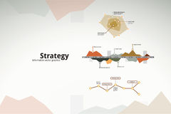 Business strategy infographics. Graphs, charts and statistics Stock Images
