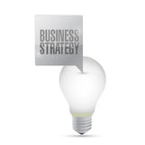 Business strategy light bulb illustration design Stock Photo