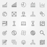 Business strategy linear icons Royalty Free Stock Photos