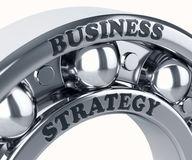 Business Strategy on the Metal bearing ball i Stock Photos