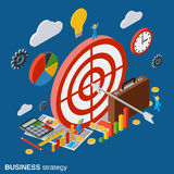 Business strategy modern vector concept Royalty Free Stock Image