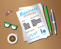 Business strategy objects Stock Images