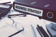 Business Strategy on Office Folder. Toned Image Royalty Free Stock Images