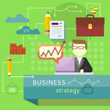 Business Strategy. Performance Analysis Banner Stock Images