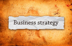 Business strategy on piece of paper Royalty Free Stock Photo
