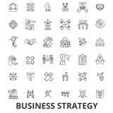 Business strategy, business plan, business, strategy concept, marketing, vision line icons. Editable strokes. Flat. Design vector illustration symbol concept Stock Photo