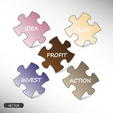Business strategy plan, puzzle pieces - stock. Graphic Royalty Free Stock Image